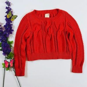 Anthropologie Far Away From Close Crop Sweater